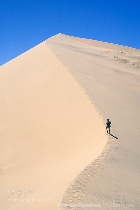 Photograph Hiker on Kelso Dunes by Martin Beebee on 500px