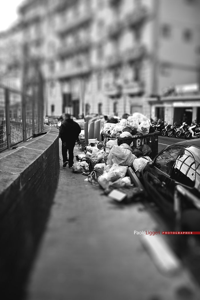 Photograph Naples from Corso Vittorio Emanuele .. with the trash by PAOLO LIGGERI on 500px