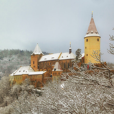 Castle Krivoklat in winter