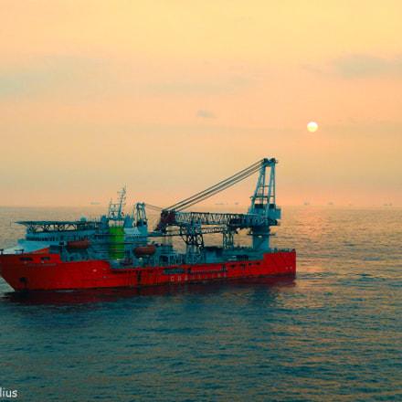 sailing in the sea, Fujifilm FinePix S3300