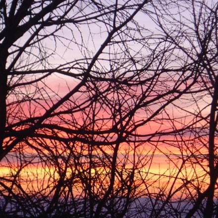 Winter sunset, Sony DSC-P92