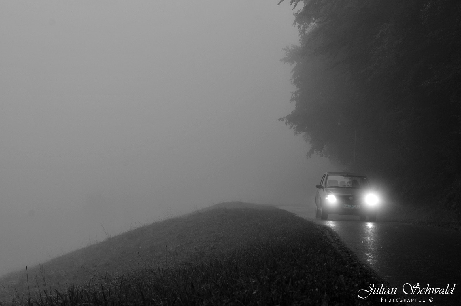 Photograph Car in the Fog by Julian Schwald on 500px