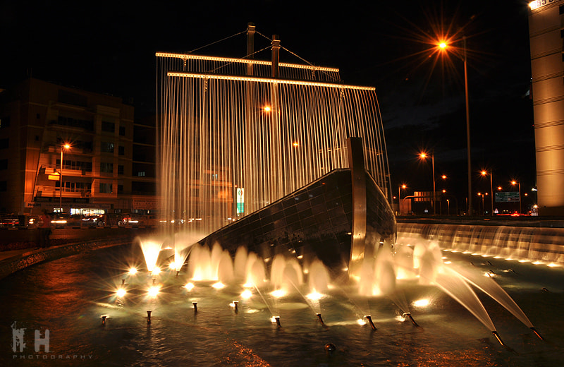 Photograph Dhow Cruise Fountain by Naeem Hussain on 500px