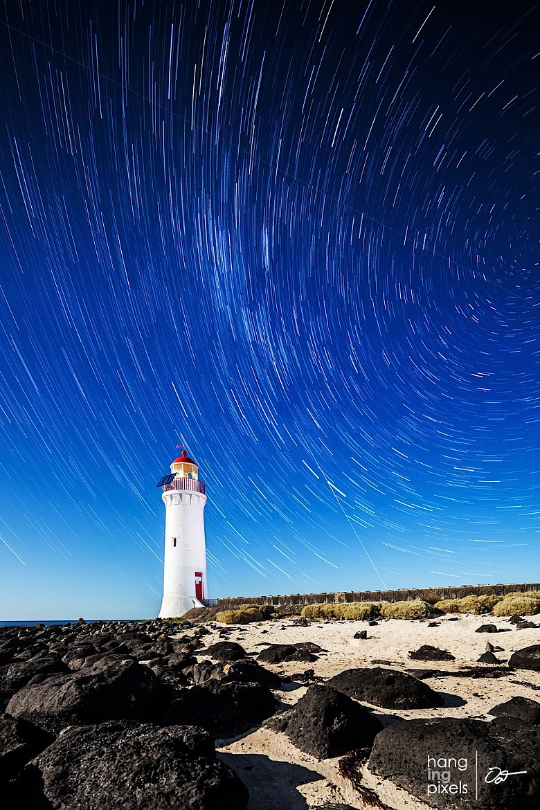 Photograph Port Fairy Lighthouse Star Trails by Oat Vaiyaboon on 500px