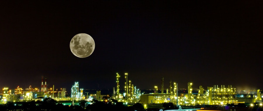 Photograph Industrial Moon by David Psaila on 500px