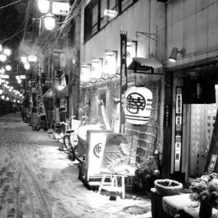 Snowy Street 雪の街, Pentax K-X
