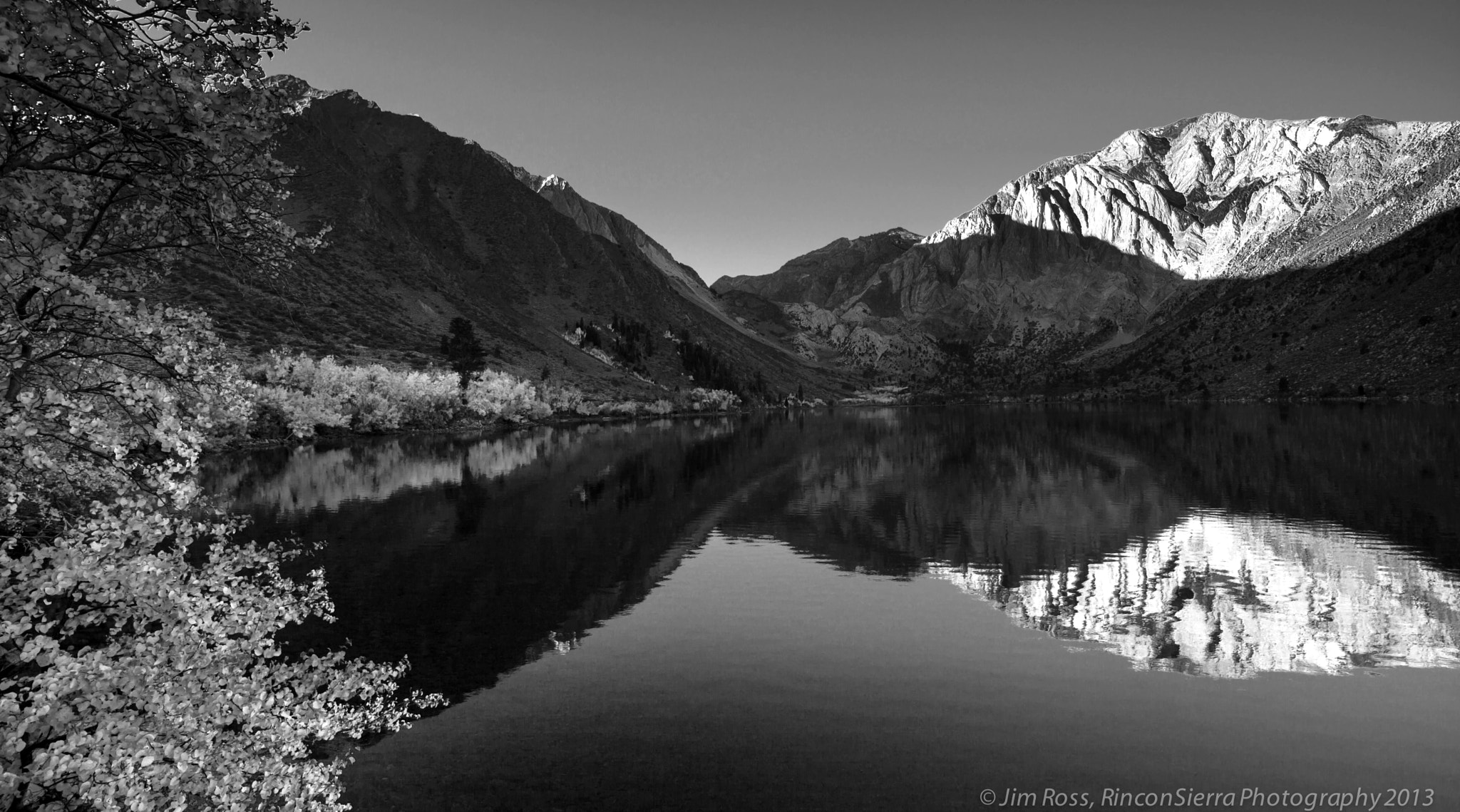 Photograph Convict Lake Sunrise in black and white!!! by Jim Ross on 500px