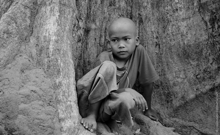Photograph Cambodian kid by Max Zu on 500px