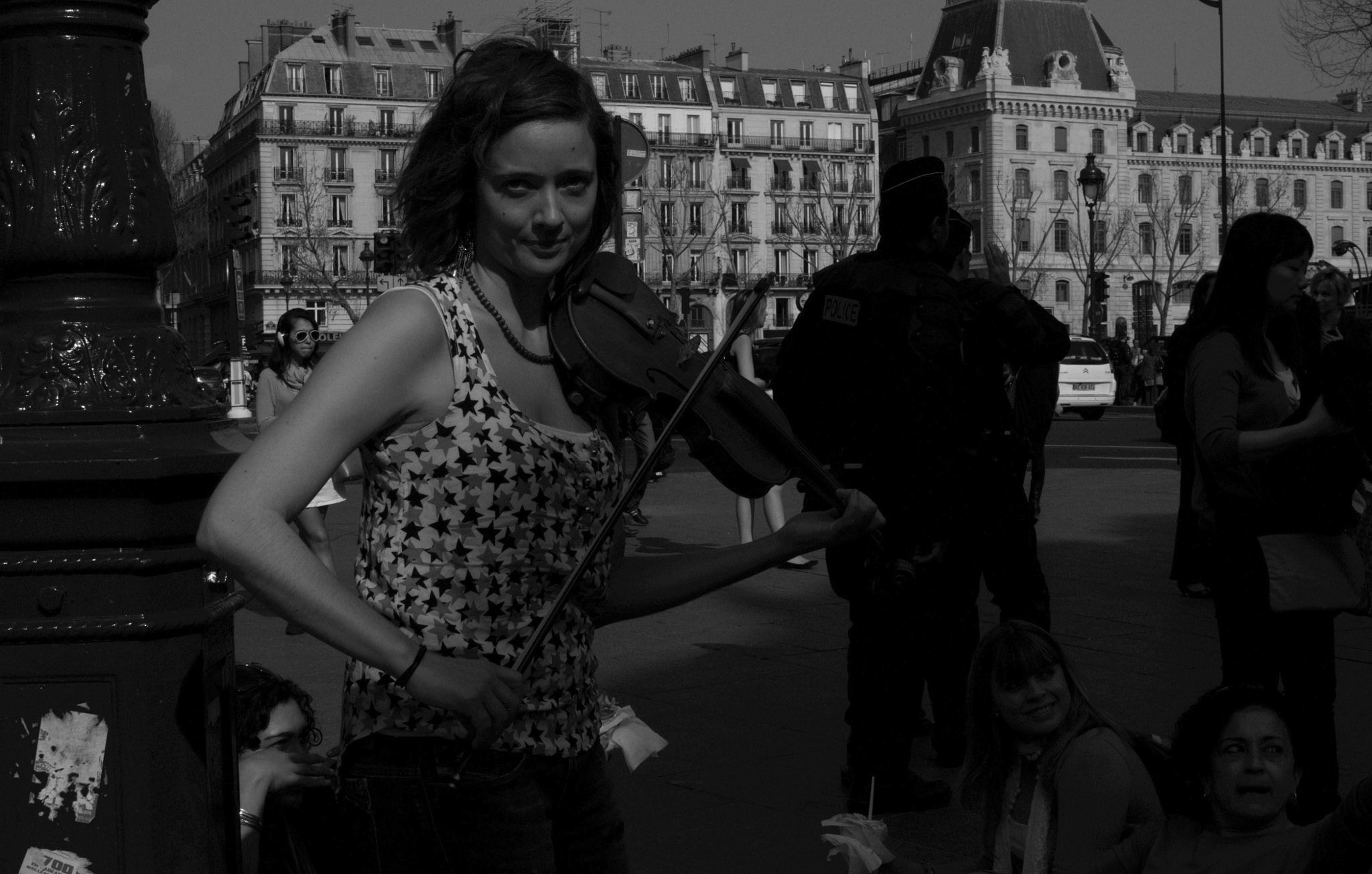 Photograph Street musician by Grazyna Letellier on 500px