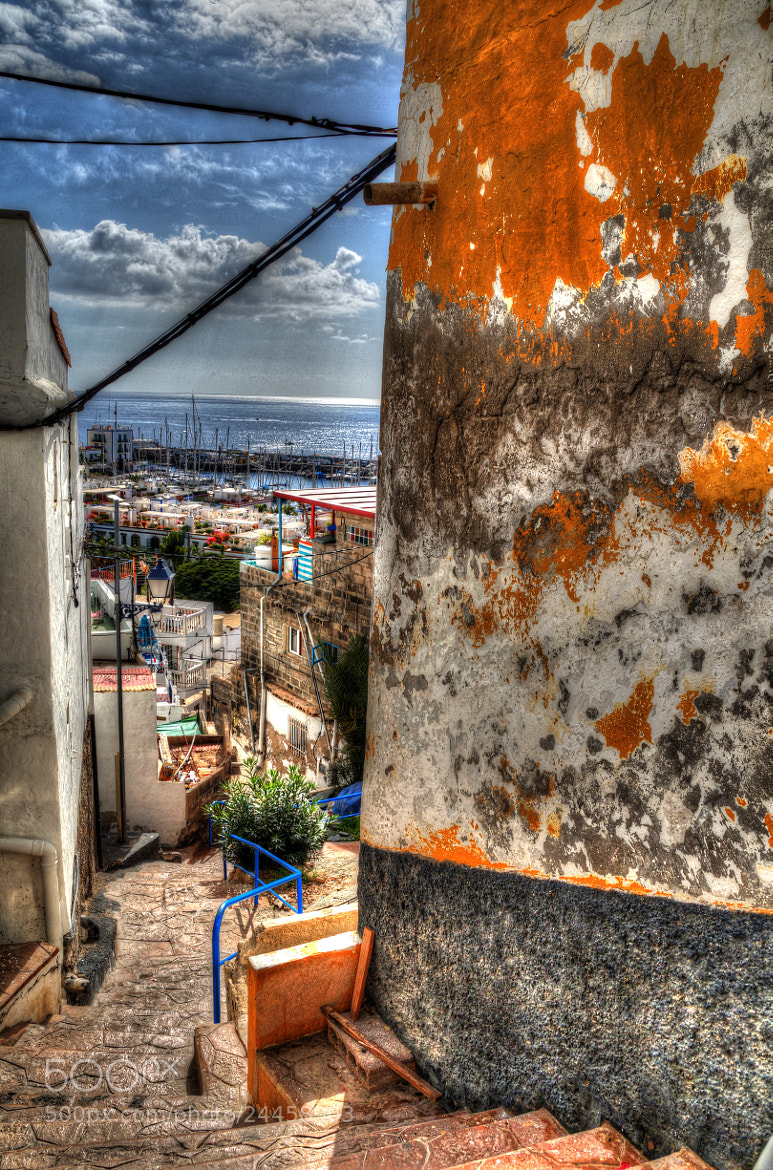 Photograph Puerto de Mogàn on the hill (HDR) by Phil Wornath on 500px