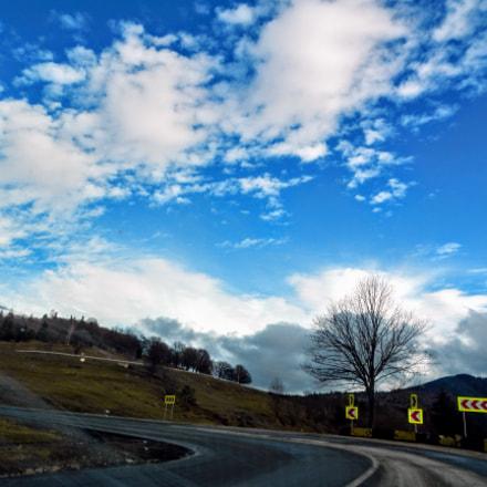 Blue sky, Nikon COOLPIX S800c