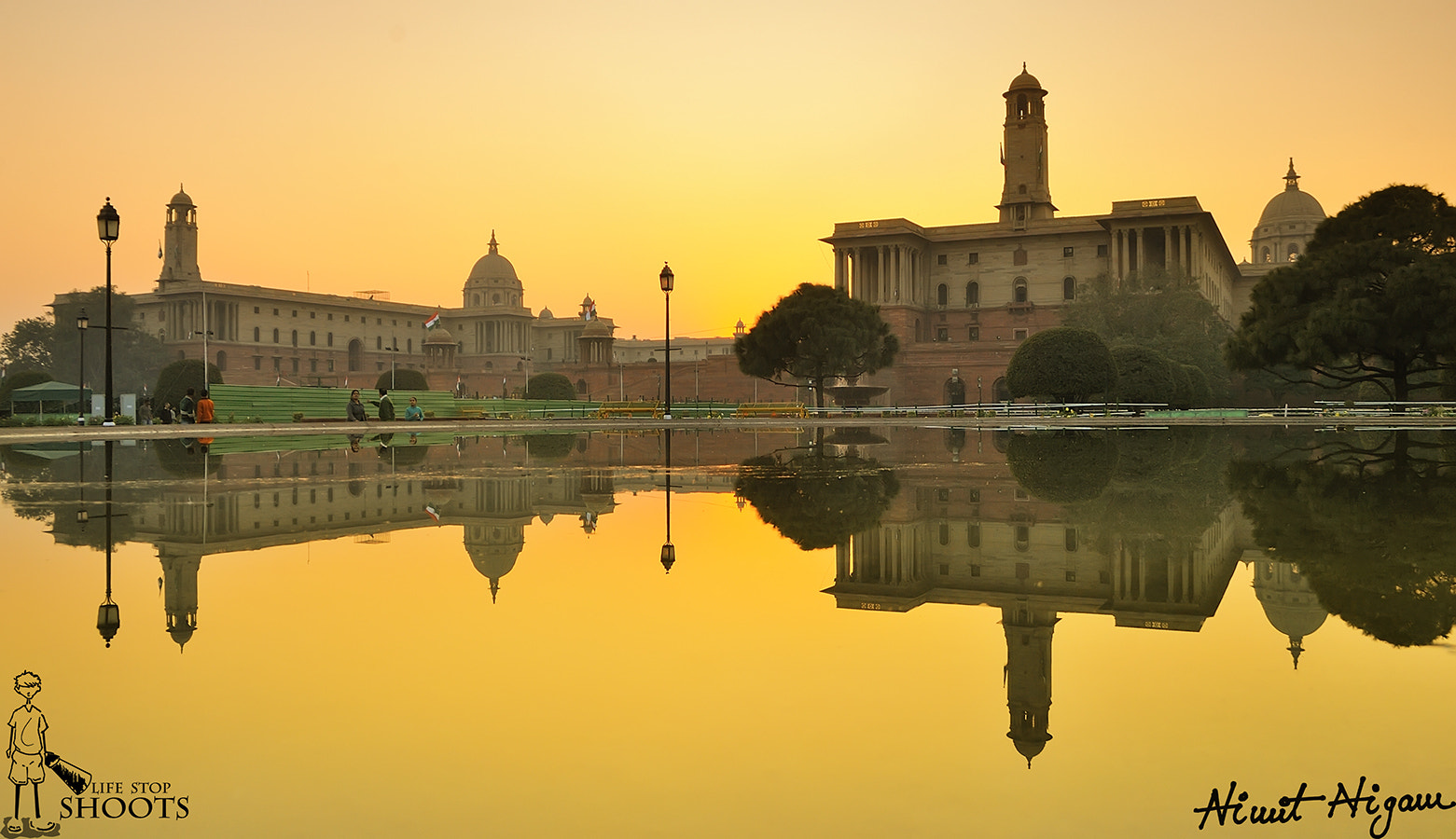 Photograph Golden Hour on North And South Block... by Nimit Nigam on 500px