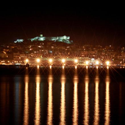 Λιμανι της Καβαλας.....by night, Canon EOS 500D, Sigma 70-300mm f/4-5.6 [APO] DG Macro