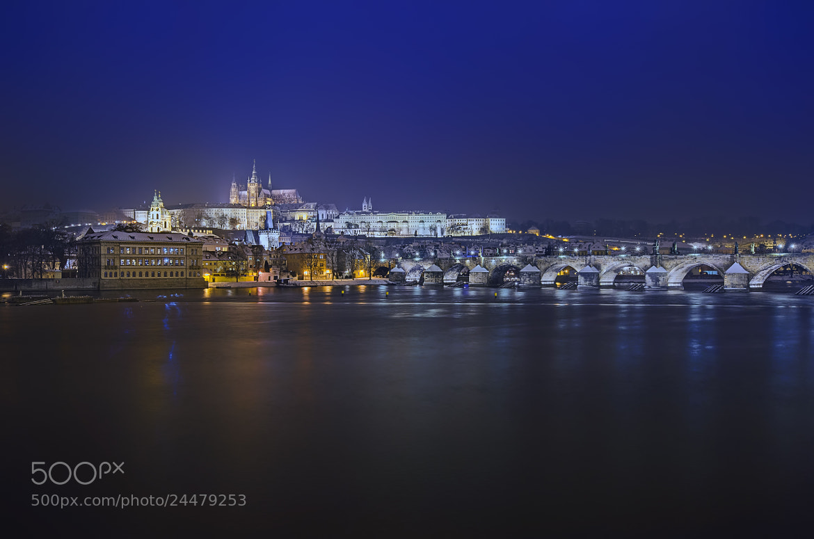 Photograph Vltava river at night. Prague by Nerijus Lostinhdr on 500px