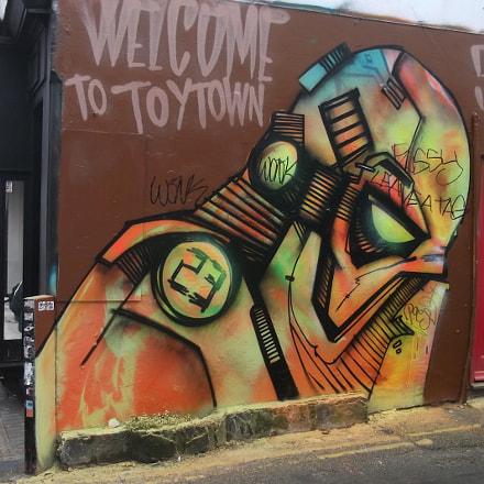 Welcome To Toytown Graffiti, Fujifilm FinePix JV250