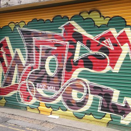 Red Yellow Green Graffiti, Fujifilm FinePix JV250
