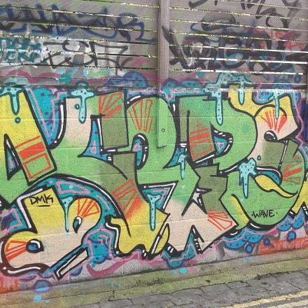 Green Yellow Pink Graffiti, Fujifilm FinePix JV250