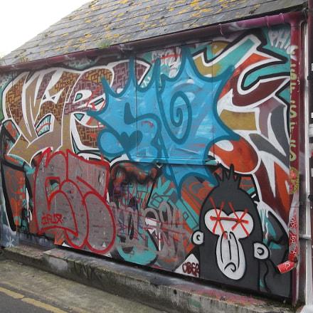 Wallful of Graffiti Trafalgar, Fujifilm FinePix JV250