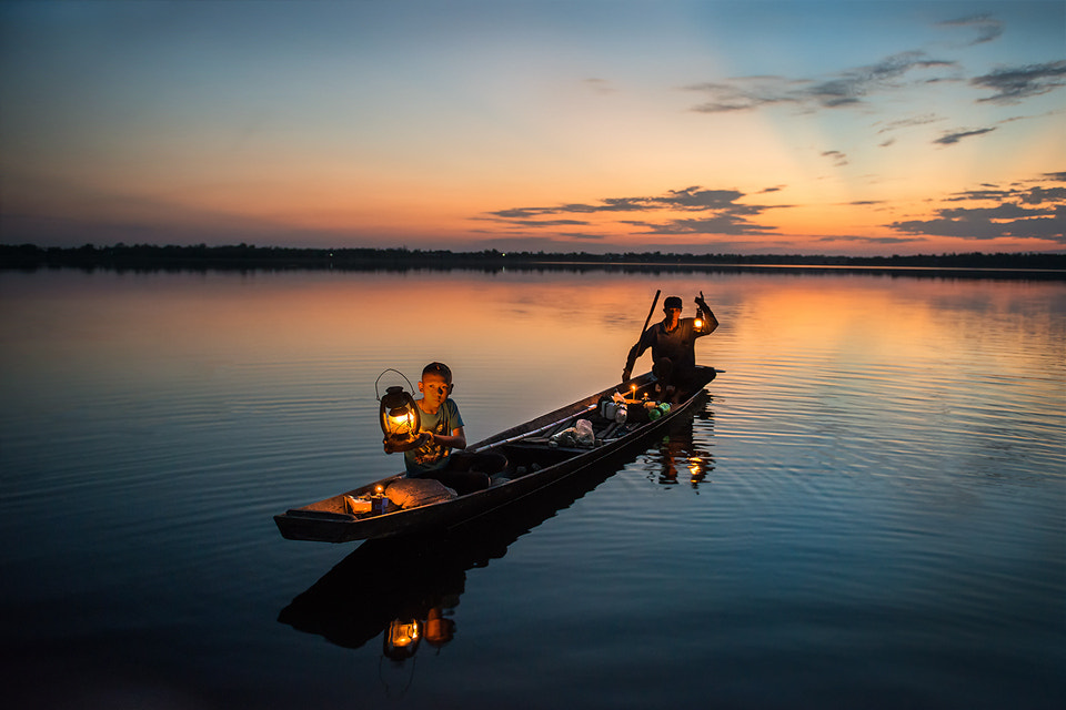 Photograph Father and son fishing. by sarawut Intarob on 500px