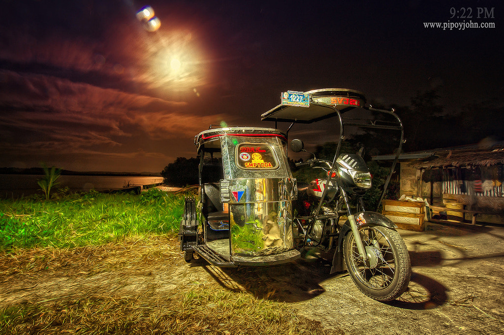 Photograph Philippine's Tricycle Under the Moon HDR Photography By: Pipoyjohn by Pipoy John on 500px