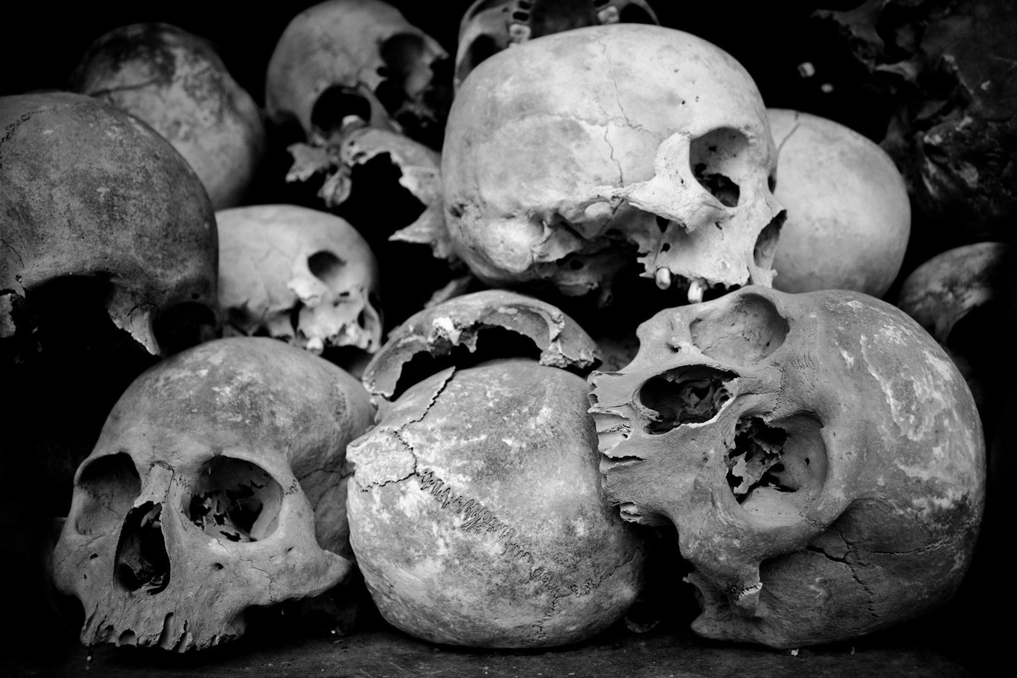 Photograph desperate skulls, Killing fields by Ahmed Saad on 500px