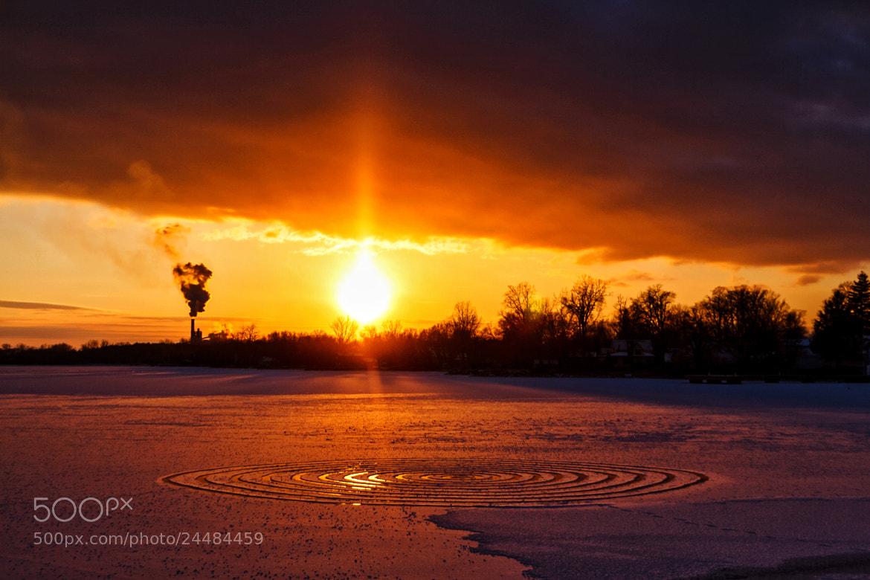 Photograph Snow Spiral Sun Set by Matt Molloy on 500px