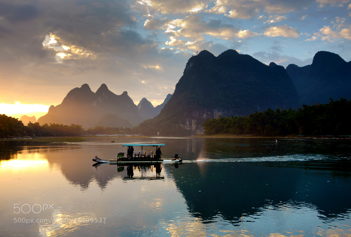 Photograph Morning light on Li river by Kenny Muir on 500px