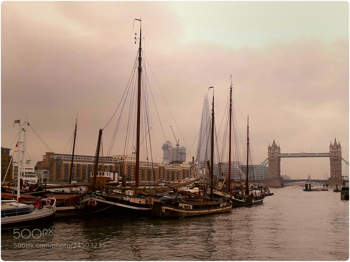 Photograph Moored Thames Sailing Barges by Garry Knight on 500px