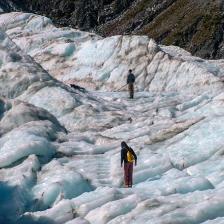Walking on Fox  Glacier, Fujifilm FinePix S20Pro