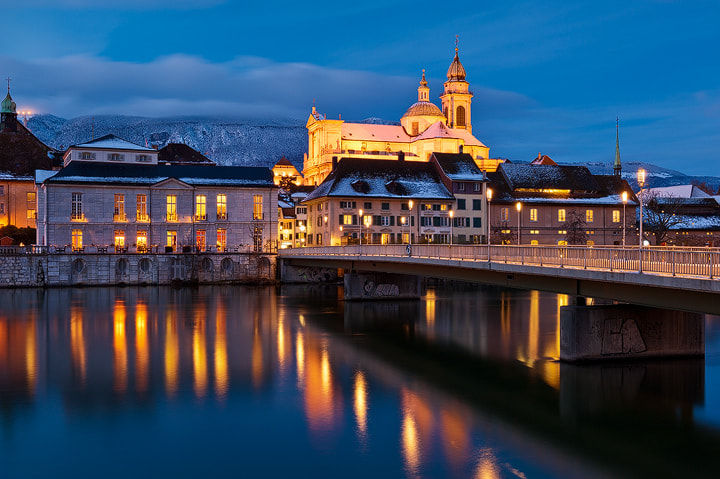 """Photograph Solothurn Winterabend by Roland """"Bill"""" Moser on 500px"""