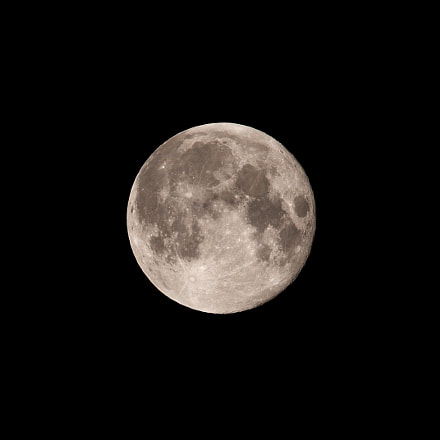 Super moon, Canon EOS 70D, Canon EF 400mm f/5.6L