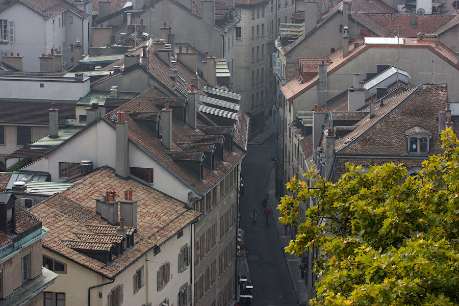 Photograph Geneva roofs by Alexander Dragunov on 500px