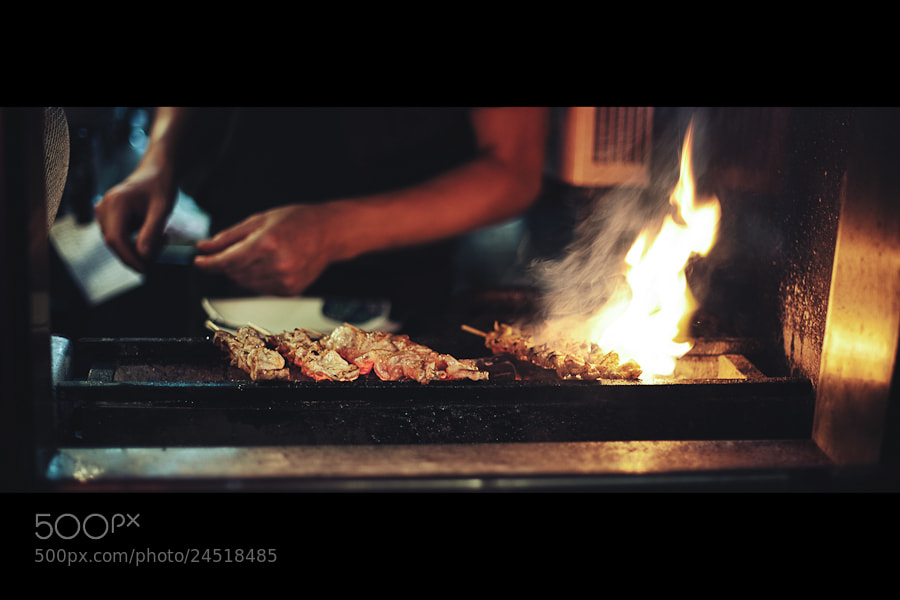 Photograph Yakitori on Fire by Loic Labranche on 500px
