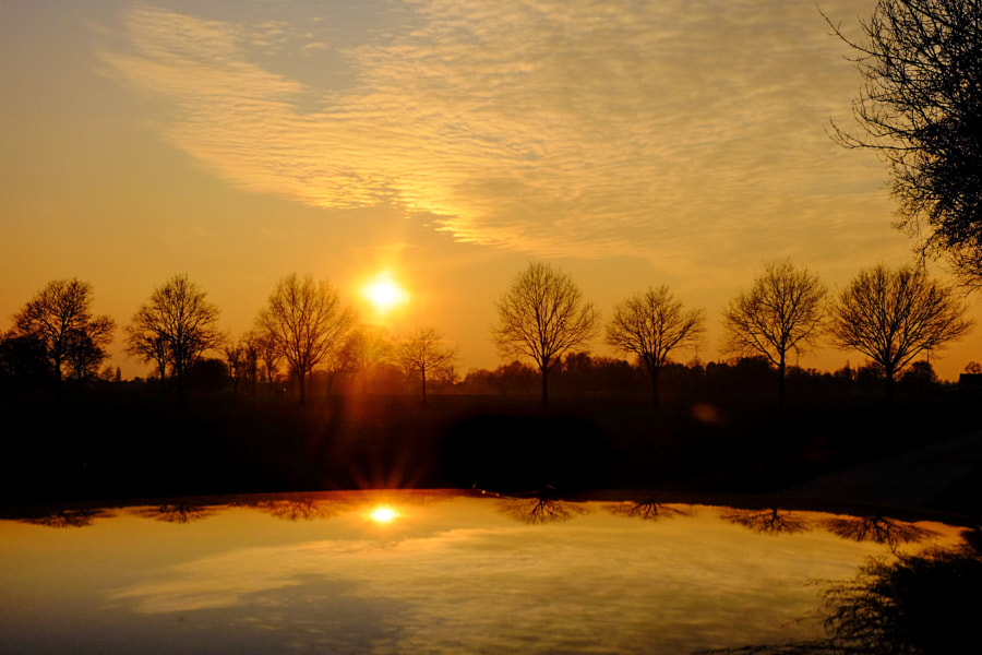 Reflected sunrise by Bjorn Beheydt on 500px.com
