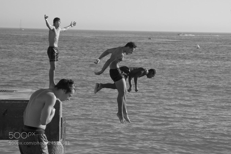 Photograph Albufeira Beach Divers by Petri Olderhvit on 500px
