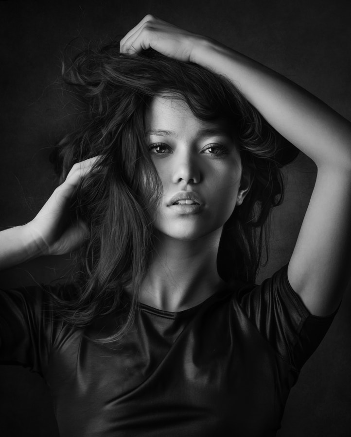 Black and white portraits - ***More*** by Joachim Bergauer on 500px.com