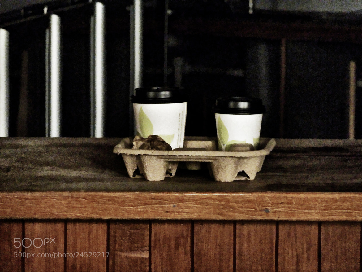 Photograph Two Coffees and a Muffin to Takeaway by Steven Taylor on 500px