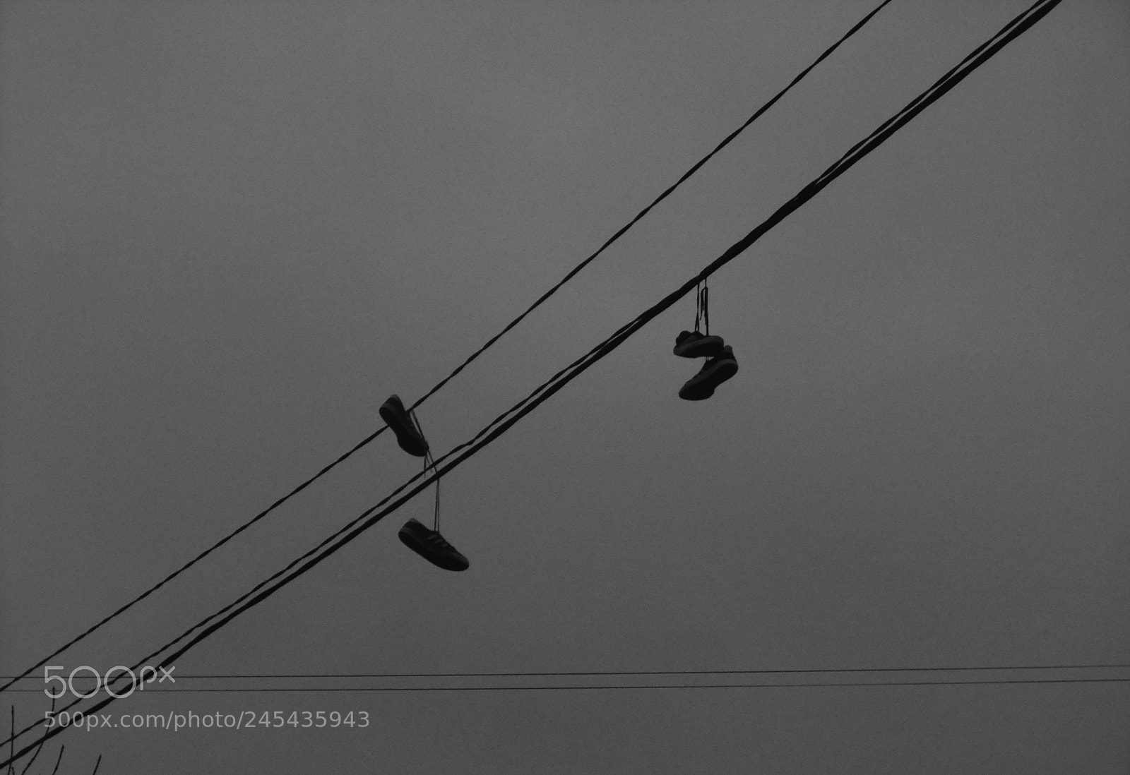 """FujiFilm FinePix JZ500 (FinePix JZ505) sample photo. """"Sneakers on wires"""" photography"""