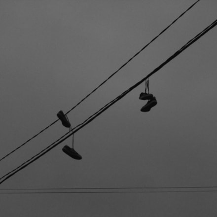 sneakers on wires, Fujifilm FinePix JZ500