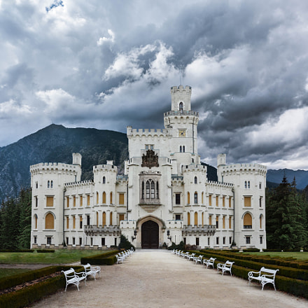 Castle in mountains