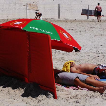 Nationalism :) on the beach, Fujifilm FinePix XP150