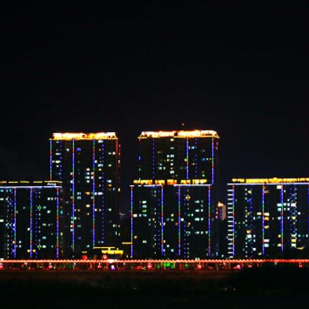 夜色城市印象。, Canon EOS 5D MARK III, Canon EF 100-300mm f/5.6L