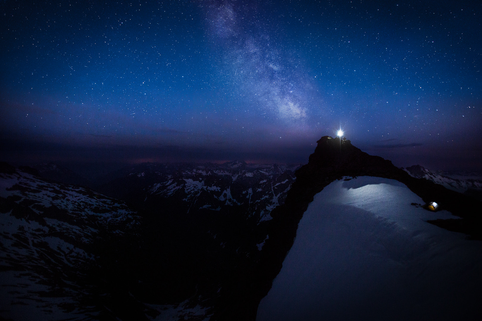 Photograph Midnight stroll on a quiet evening to the edge of a cliff by Luke Humphrey on 500px