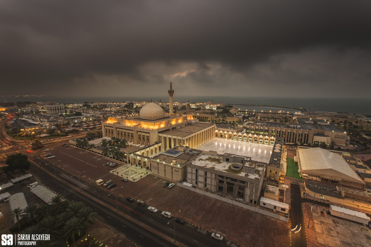 Photograph Kuwait - The Heavy Cloud Over Grand Mosque by Sarah Alsayegh on 500px