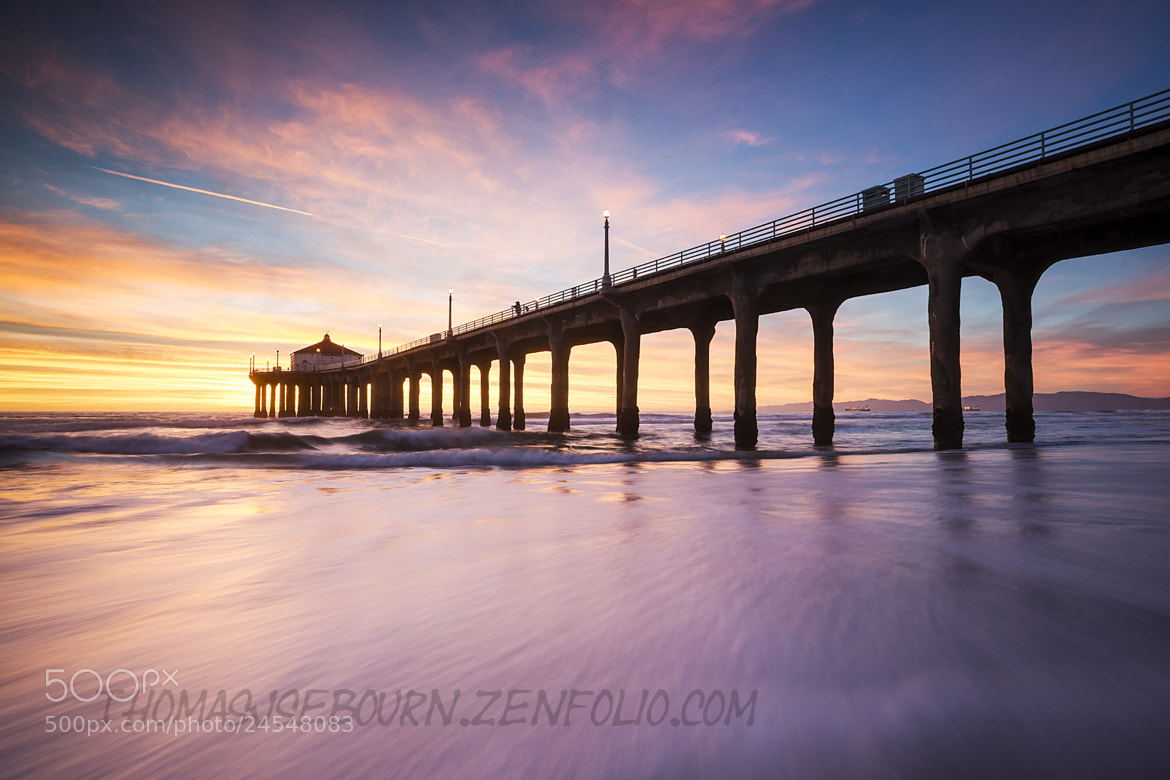 Photograph Manhattan Beach Pier Sunset 1 by Thomas Sebourn on 500px