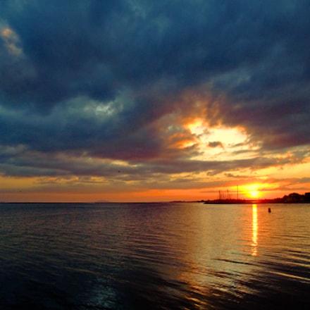 Coucher de soleil sur, Fujifilm FinePix F100fd