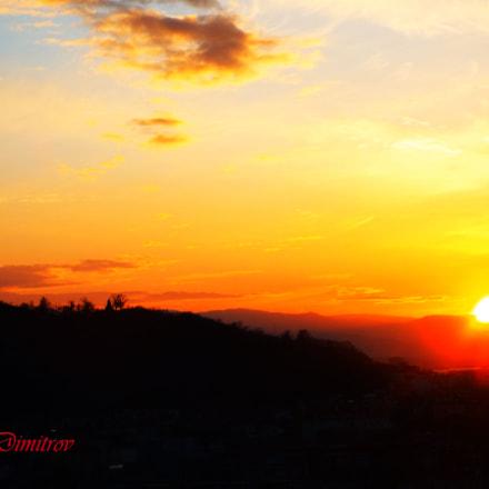 Sunset over the city, Fujifilm FinePix S8300