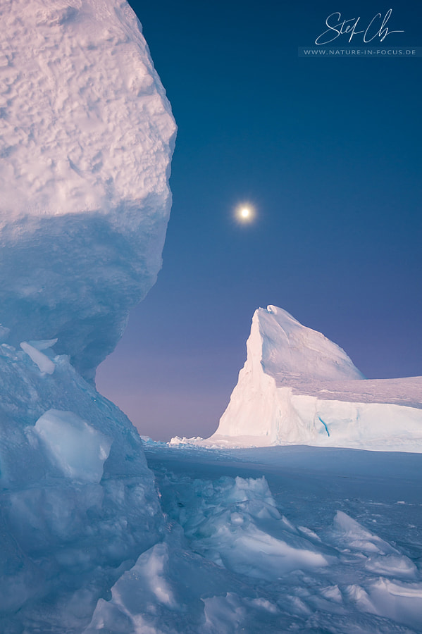Moon over the sea ice by Stefan Christmann on 500px.com