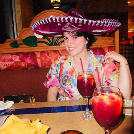 Birthday celebration Mexican restaurant, Fujifilm FinePix JZ300