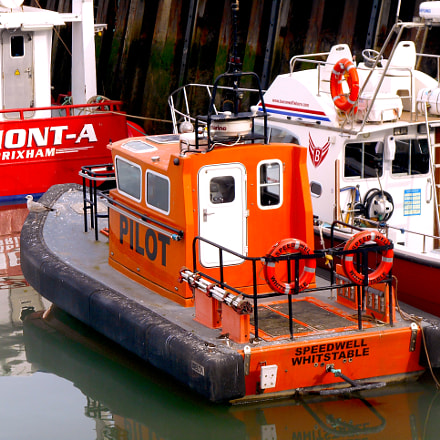 Boats in Whitstable Harbour, Nikon COOLPIX S3400